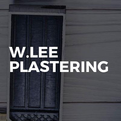 W.Lee Plastering